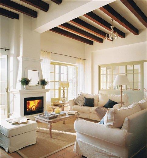 Blog by nela salones con calor de hogar with home heat - Salones con chimeneas ...
