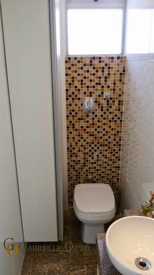 Gabrielle Otto  Arquitetura  Interiores  Iluminação Consultório Psicope -> Banheiro Pequeno Com Pastilha Marrom