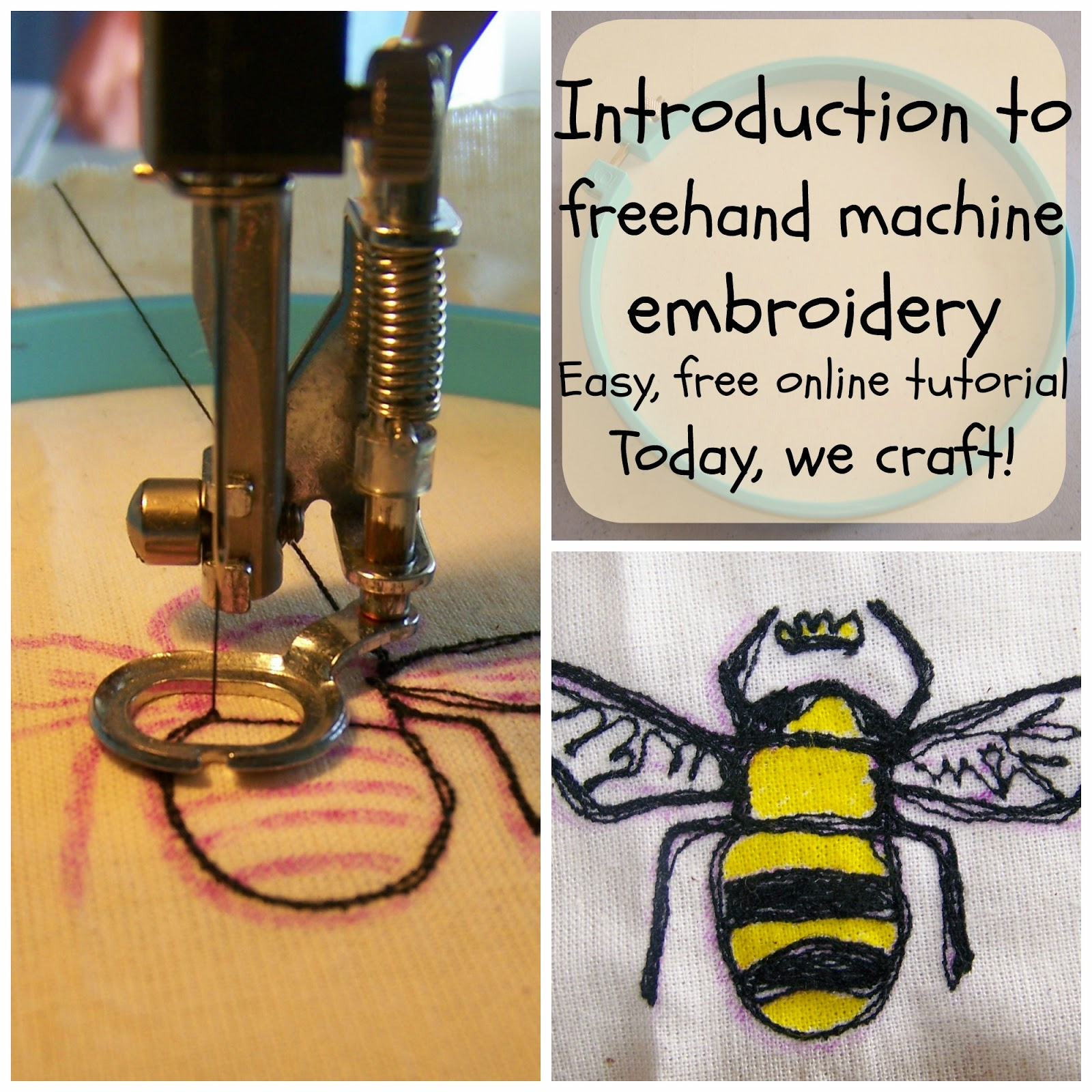 Introduction To Freehand Machine Embroidery Todaywecraft