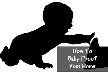 baby silhouette - baby proofing your home