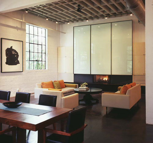 Mid-Century Modern Interiors with Contemporary Loft Design