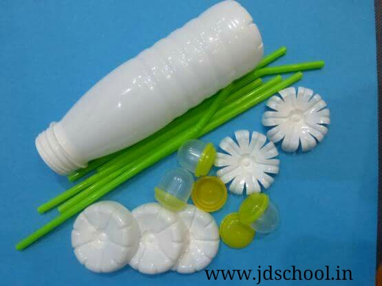 Make a beautiful flower pot from waste plastic bottle for Crafts from waste plastic bottles