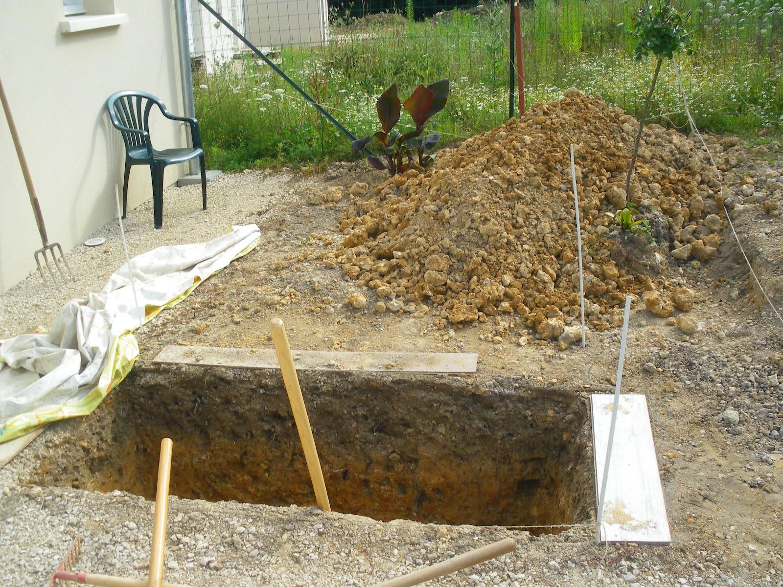 Jardin aux quatre saisons d 39 un bac sable un bassin for Feutre geotextile bassin