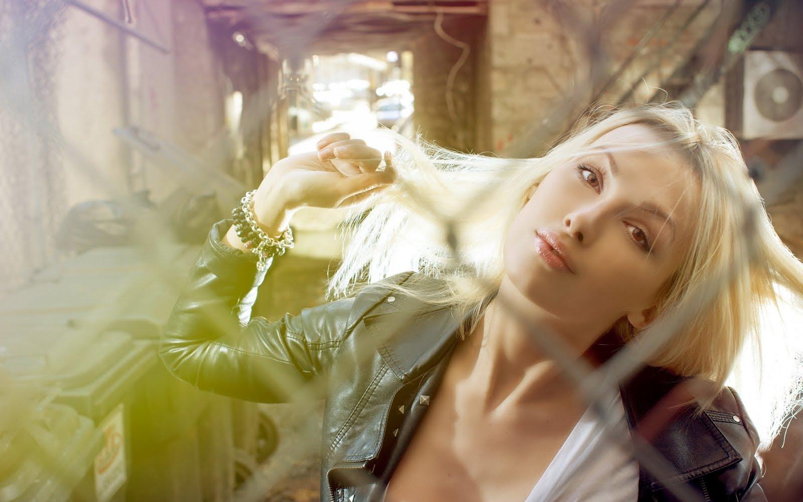 Красива блондинка, HD Wallpaper