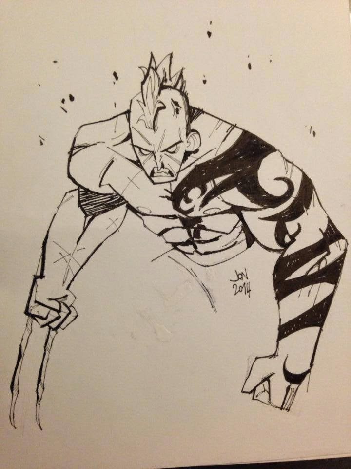 jonathan jon lankry 2D artist animation comic book animated daken wolverine son romulus marvel villains dark