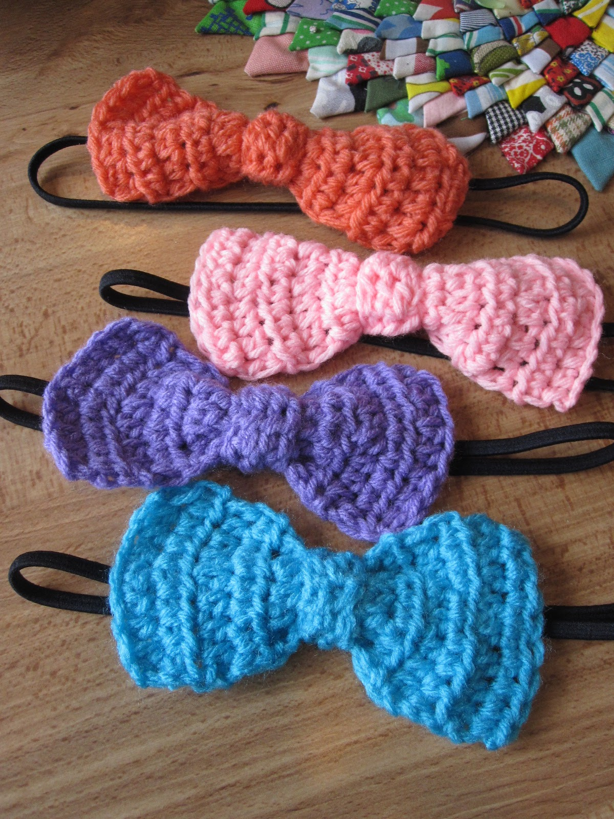 Lively crochet rhythmic youth crochet bow headband tutorial headband and clip the rest off baditri Image collections