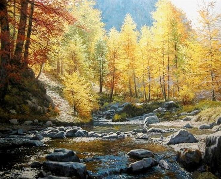 Pinturas cuadros lienzos pinturas paisajes naturales jose ferre clauzel - Pintores de barcelona ...