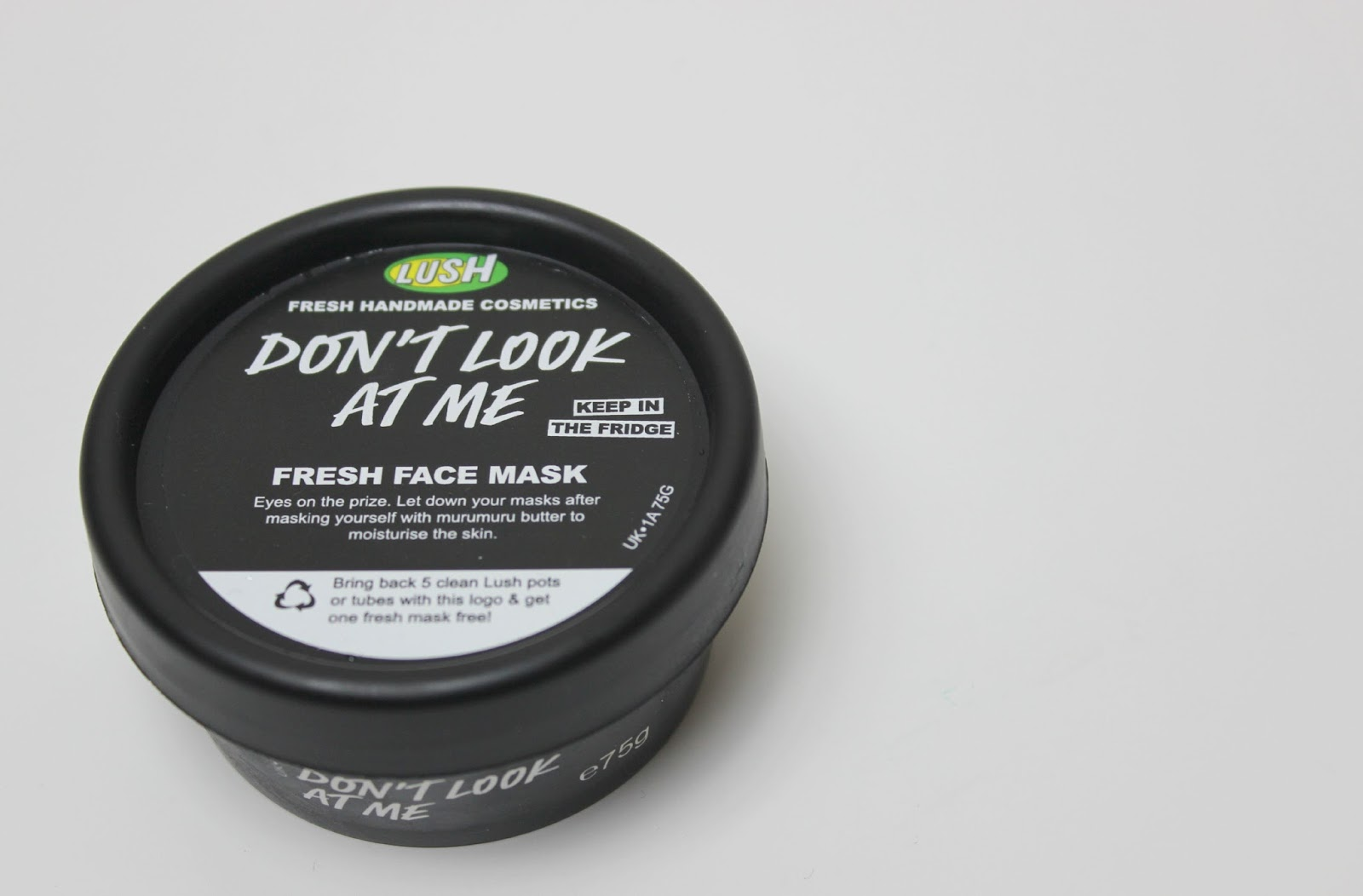 Dont look at me lush face mask review - Lush Don T Look At Me Fresh Face Mask