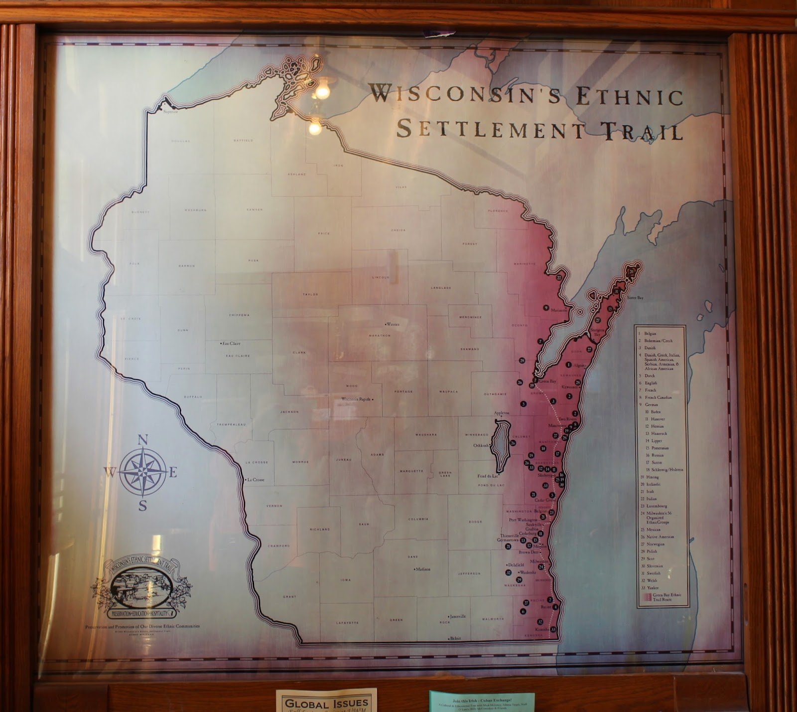 1864 WI MAP DODGE DOOR DOUGLAS DUNN EAU CLAIRE FLORENCE COUNTY History HUGE !!