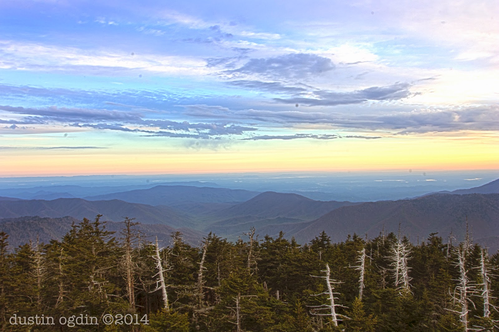 Sunrise at Clingmans Dome GSMNP
