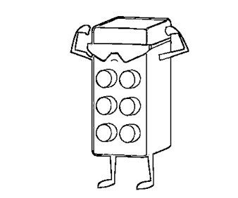 #11 Lego Coloring Page