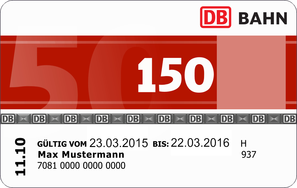 New BahnCard 150 holders brings 150 % discount on every train