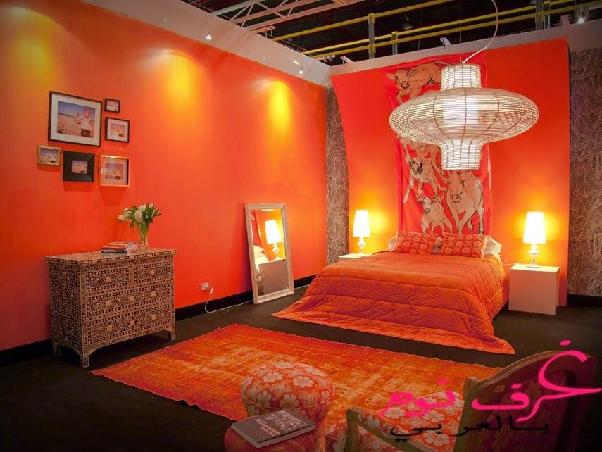 غرف نوم اطفال باللون البرتقالي | مجلة | غرف نوم