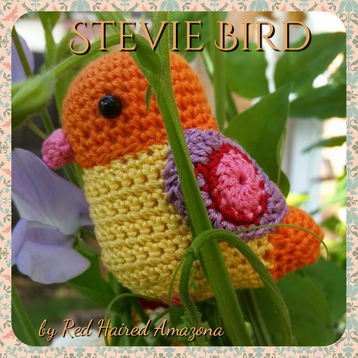 Amigurumi Hummingbird Pattern : Red Haired Amazona: Stevie Bird Amigurumi Tutorial