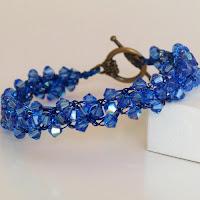 Sapphire Wire Crochet Braidlet