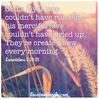 God's love couldn't have run out devotional