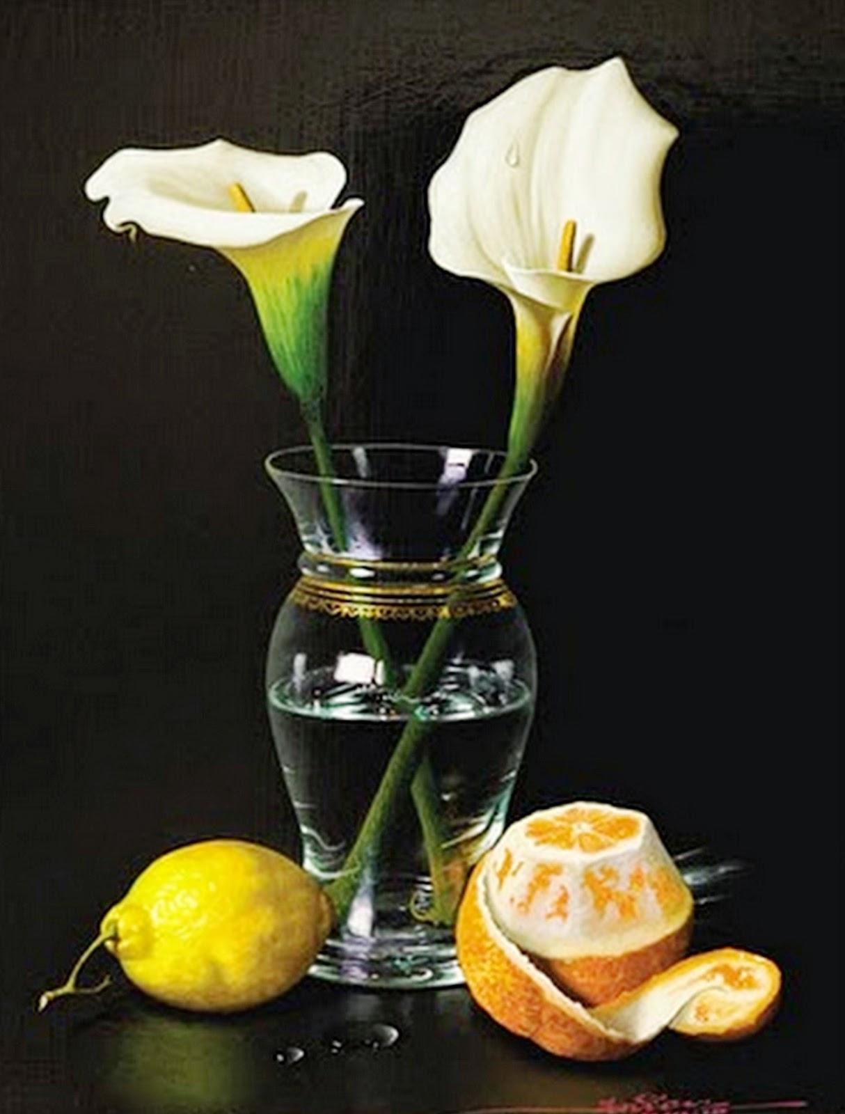 bodegones-hiperrealistas-con-flores-al-oleo