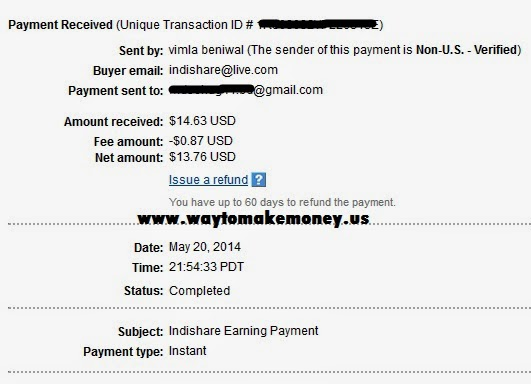 Indishare Earning Payment Proof 2014