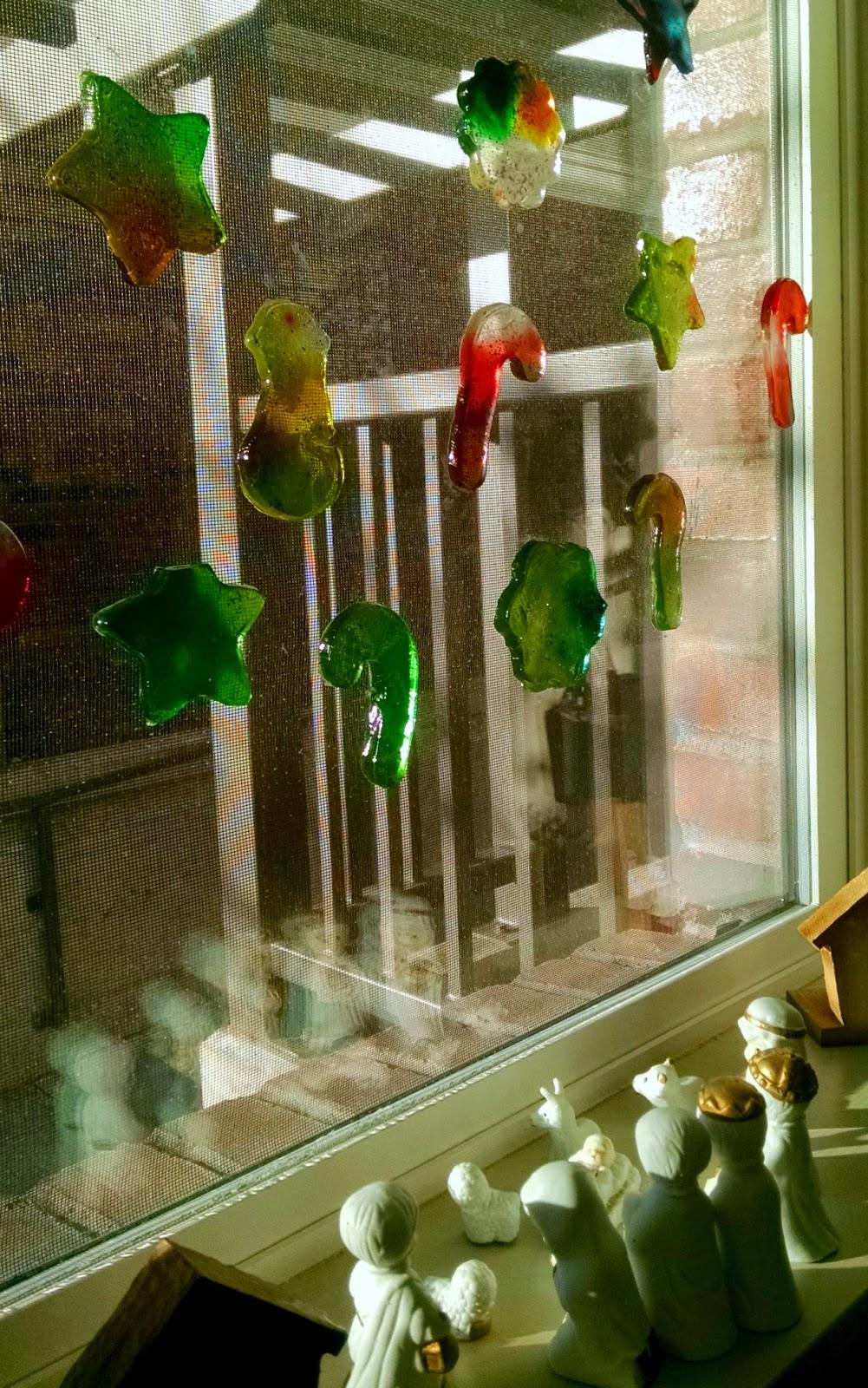DIY Window Gel Clings   Christmas/Winter