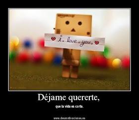dejame quererte ♥ y deja que te susurre un sincero te quiero, mientras se dibuja una sonrisa en tu