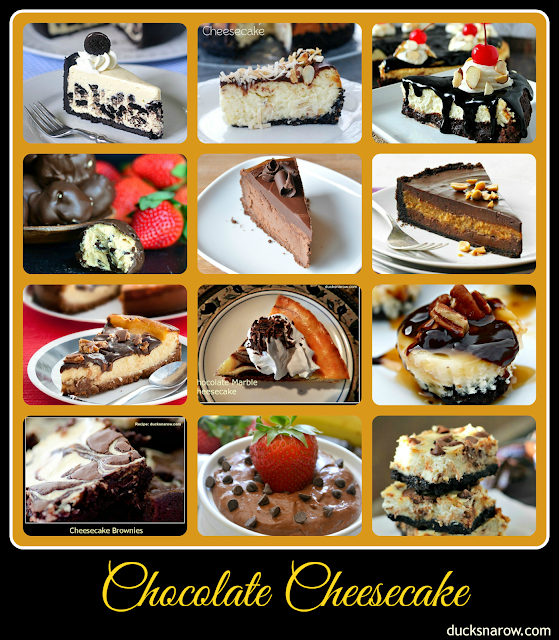 12 Best Chocolate Cheesecake Recipes #cheesecake #chocolate Ducks 'n a Row