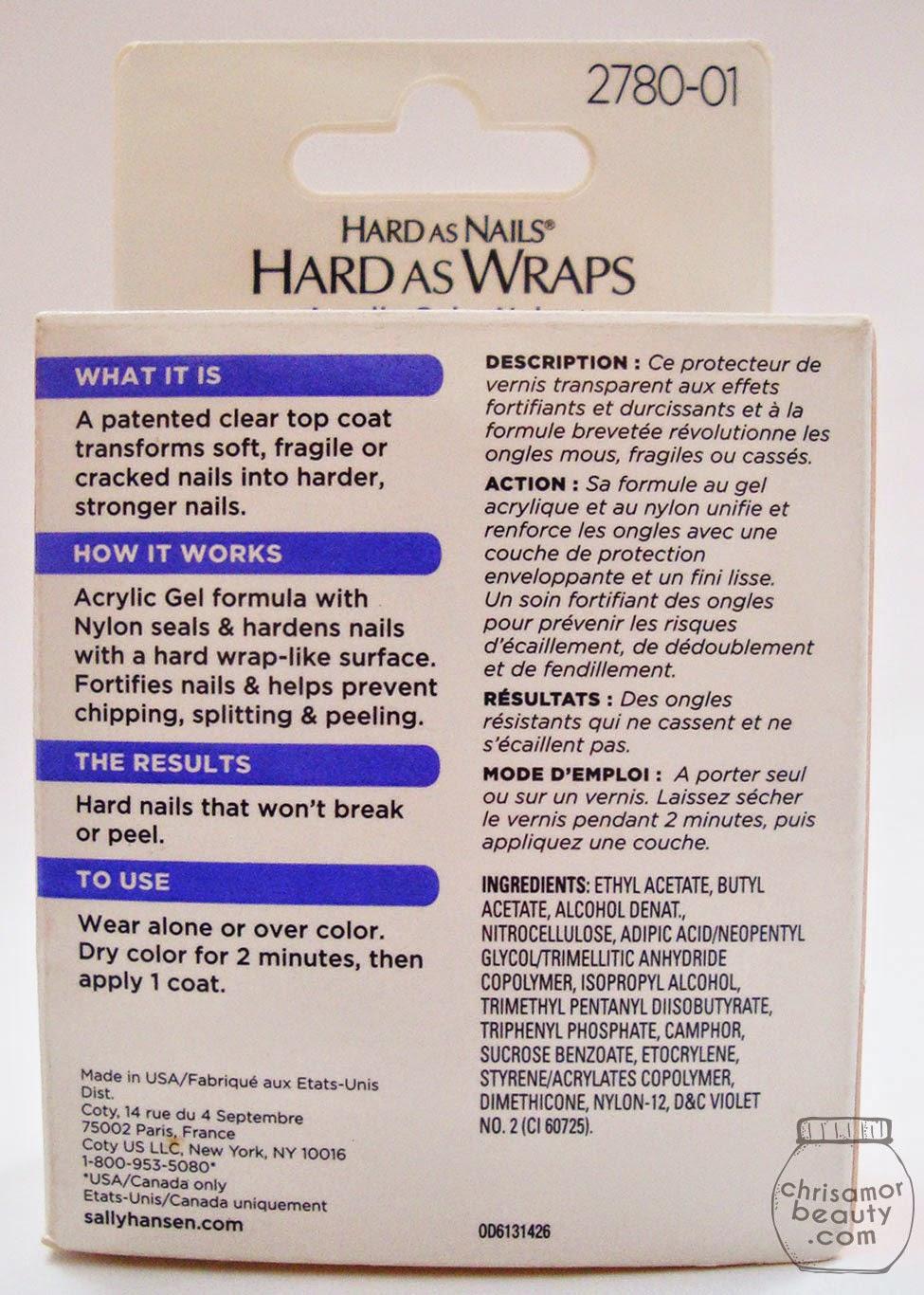 Chrisamor Goodie Jar : Sally Hansen Hard as Wraps saved my nails ...