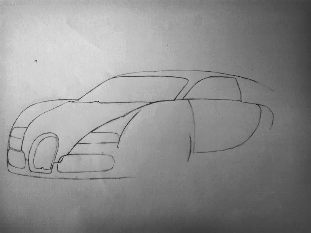 seleofficialart black bugatti veyron pencil drawing. Cars Review. Best American Auto & Cars Review