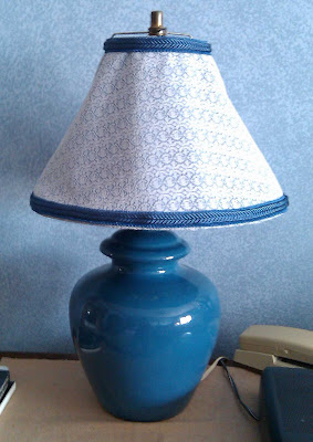 Finished lamp shade in bedroom