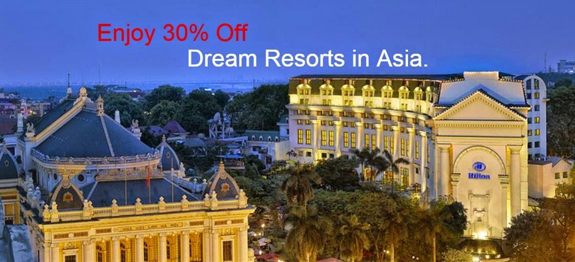 Hilton 希爾頓酒店 旗下【泰國、馬來西亞、越南、馬爾代夫】7折優惠。