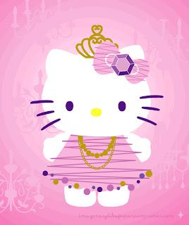 hello kitty para imprimir en rosa