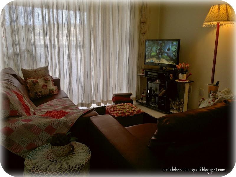 Casa de bonecas manta e pan em patchwork for Manta no sofa como usar