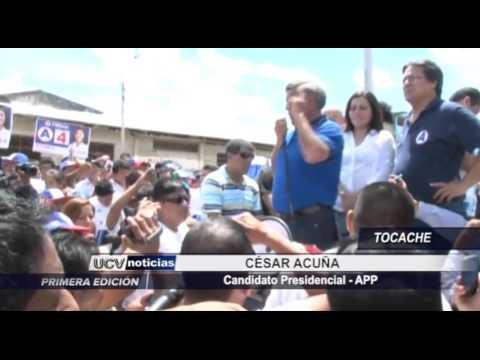 CESAR ACUÑA CANDIDATO A LA PRESIDENCIA VISITO TOCACHE