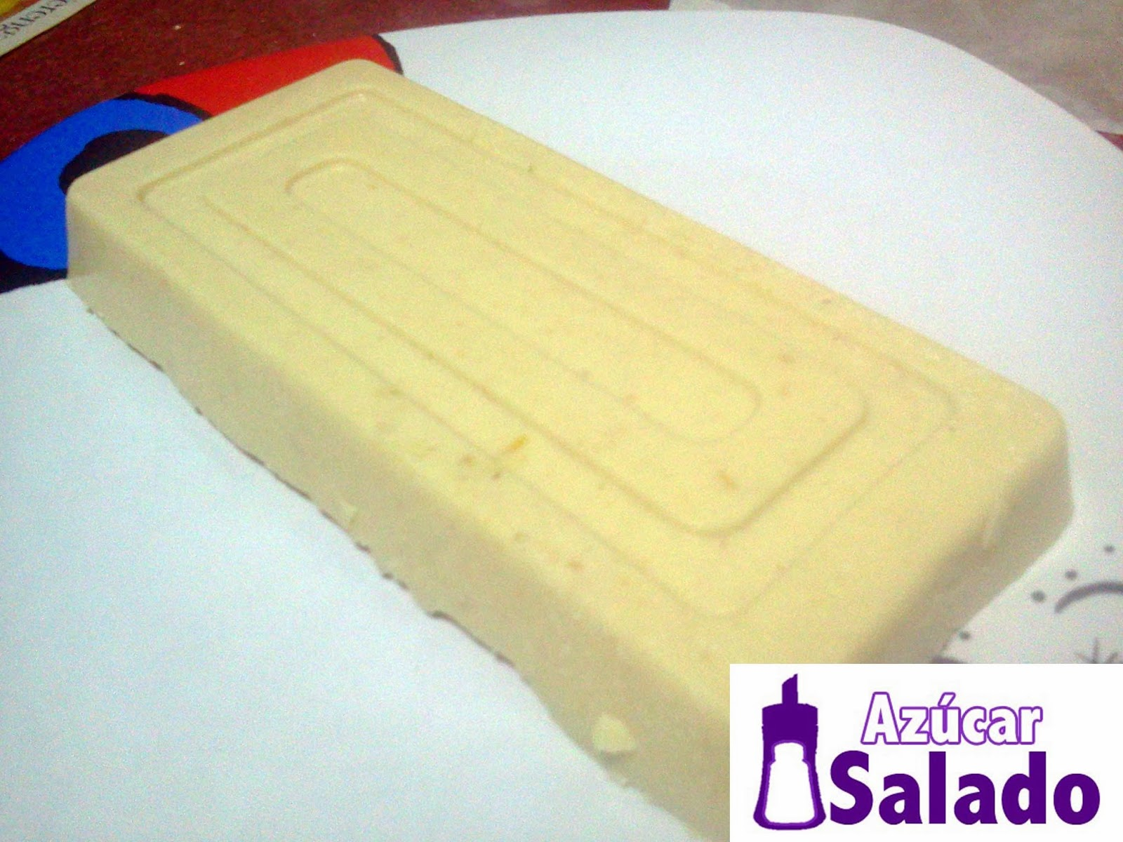 turron de chocolate blanco