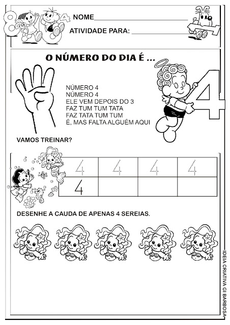 Atividades Numerais Educação Infantil