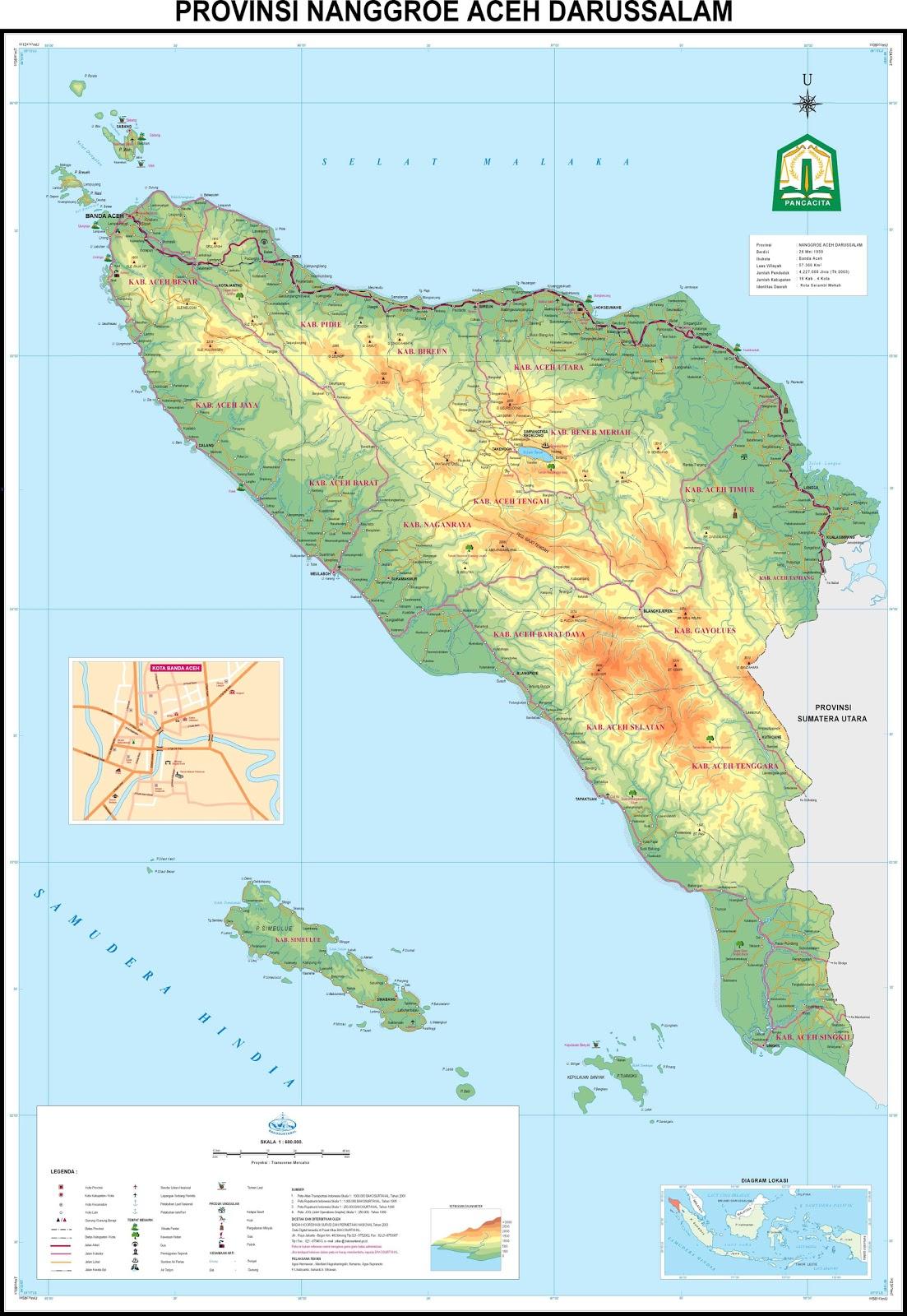 Harun Ar Mg Sakti Palembang Peta Provinsi Nangroe Aceh Darussalam