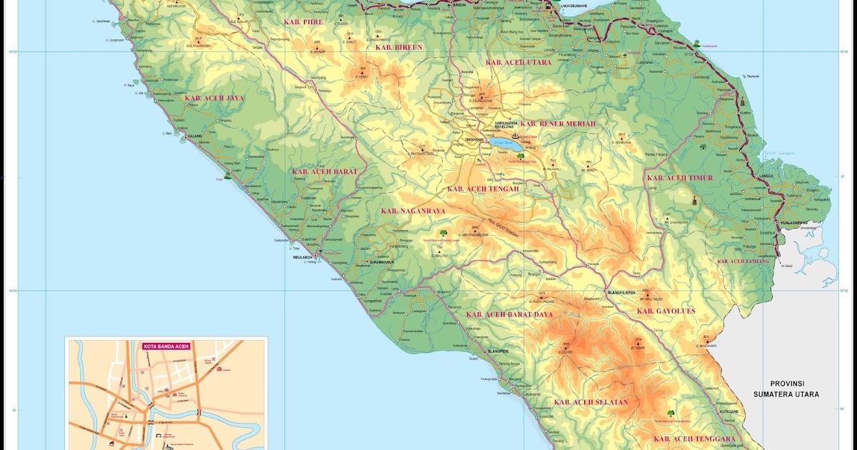 peta provinsi nangroe aceh darussalam nad