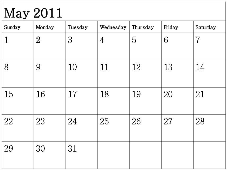 Blank May Calendar : Printable blank lined calendar new template site