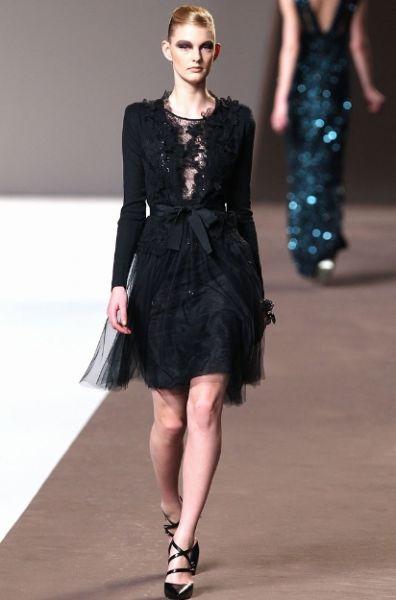 ELIE SAAB - kurze schwarze Kleider 2011