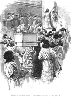 """The priests brought in the ark   to the most holy place"""" - Paul Hardy"""