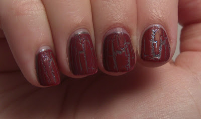 Revlon Royal Cloak under finger paints red crackle