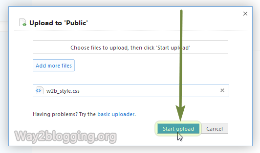 Upload/Host your Files via DropBox Online - Step5