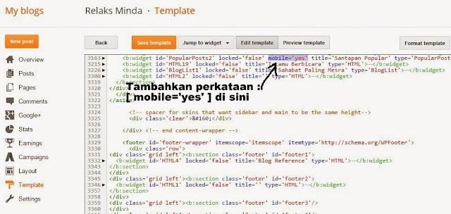 cara-tambah-widget-untuk-mobile-tablet-view