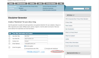 Cara Membuat Halaman Disclaimer Pada Blog Untuk Mendaftar Google Adsense