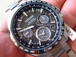 CITIZEN SATELITE WAVE GPS CHRONOGRAPH - TITANIUM CASE AND BRACELET - ECO DRIVE