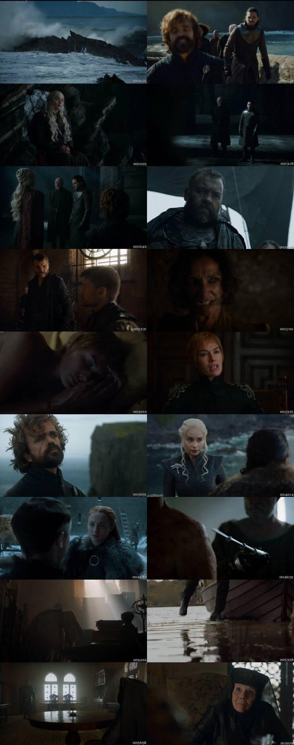 Screen Shot Of Game Of Thrones Season 07 Episode 03 2017 Web-DL 720P 300MB