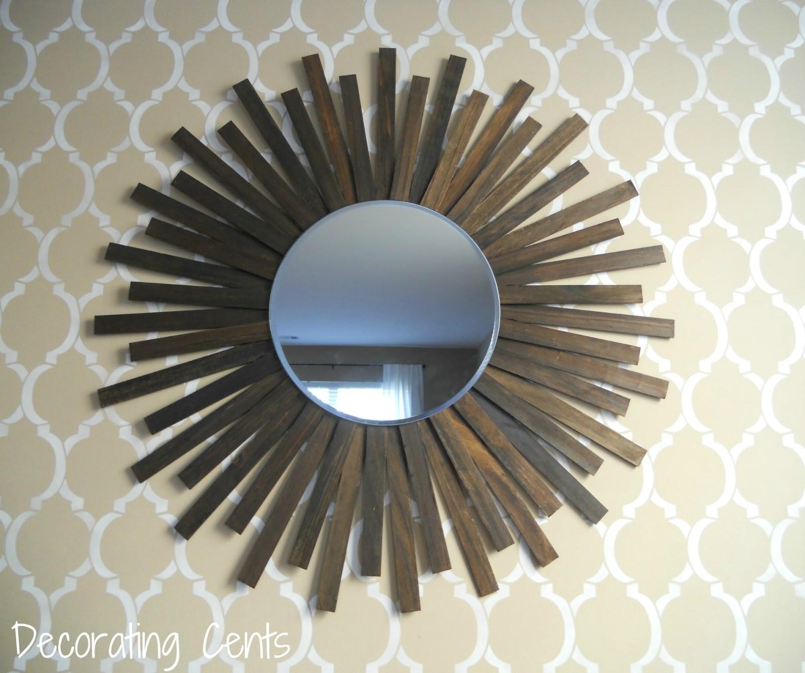 Decorating cents diy sunburst mirror for Sunburst mirror