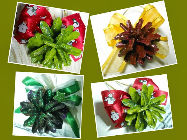 dekoracje świąteczne, szyszki