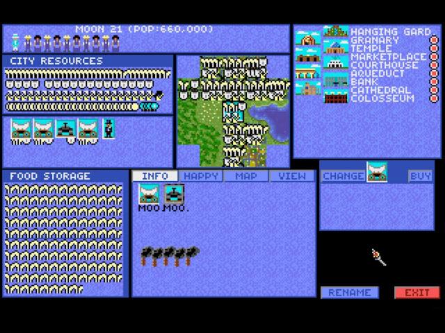 Sid Meire's Civilization - City Screen Description