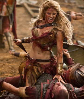 Ellen Hollman in Spartacus War of the Damned TV review