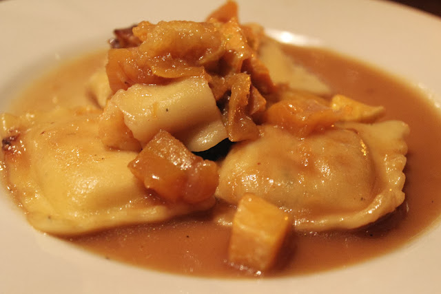 Butternut squash ravioli at Piattini Wine Cafe